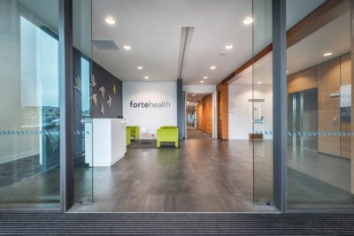 Interior commercial architectural photography. Forte Health reception area