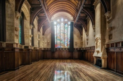 Christchurch Arts Centre Great Hall professionally photographed by Anthony Turnham. Interior architectural photography