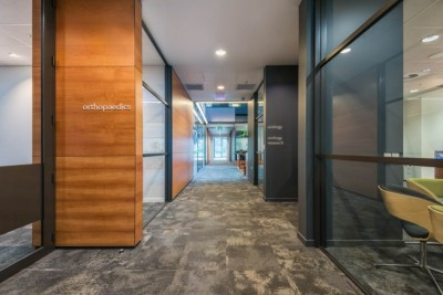 professional interior commercial architectural photography. Forte Health corridor / hallway.