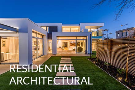 Residential architecture photographer christchurch. High end home photographed at evening
