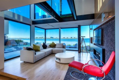 Room with an ocean view in Christchurch NZ. Best property photography