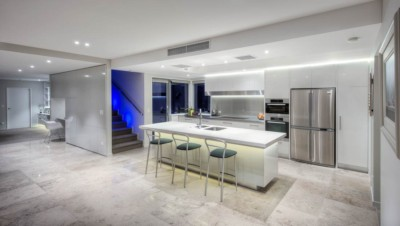 Clean modern kitchen design Christchurch New Zealand. Phootgraphy by Anthony Turnham